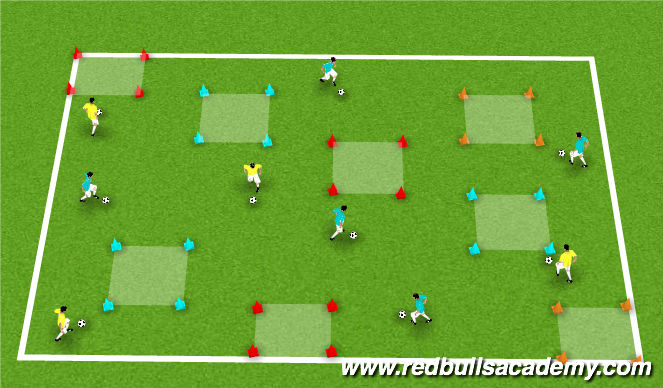 Football/Soccer Session Plan Drill (Colour): Donkey's Musical Chairs