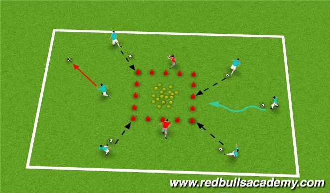 Football/Soccer Session Plan Drill (Colour): Fairy Tale Creatures vs. Lord Farquaad