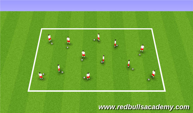 Football/Soccer Session Plan Drill (Colour): Messi/Xavi/Ronaldo (5 mins)