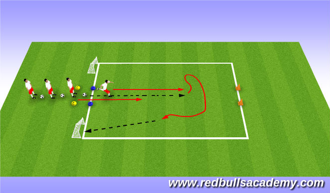 Football/Soccer Session Plan Drill (Colour): fully opposed (15 mins)