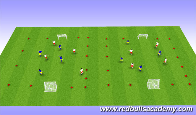 Football/Soccer Session Plan Drill (Colour): Tournament 4v4 (45 mins)