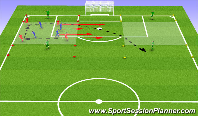Football/Soccer Session Plan Drill (Colour): Leikræn þjálfun:
