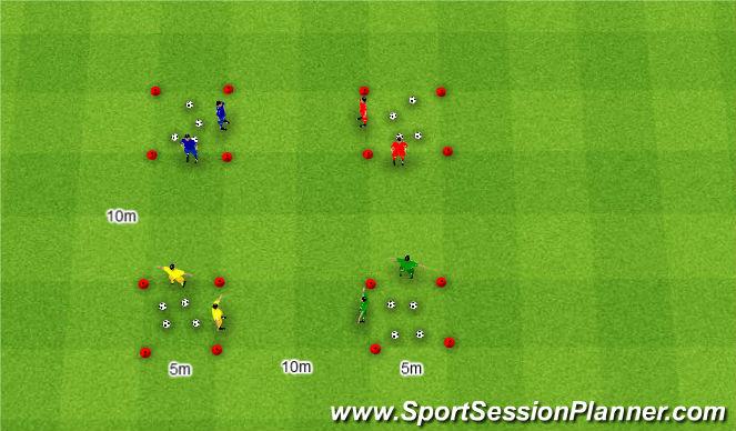 Football/Soccer Session Plan Drill (Colour): Złodziej.