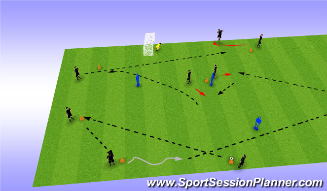 Football/Soccer Session Plan Drill (Colour): SHAPE WORK ..