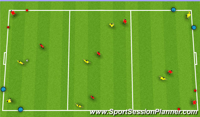 Football/Soccer Session Plan Drill (Colour): SSG SWITCHING IN MIDFIELD