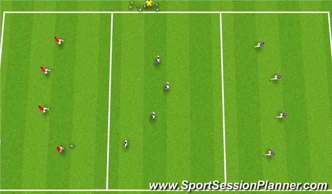 Football/Soccer Session Plan Drill (Colour): Italy