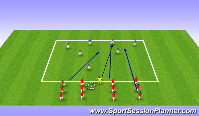 Football/Soccer Session Plan Drill (Colour): PCB Fast Pace