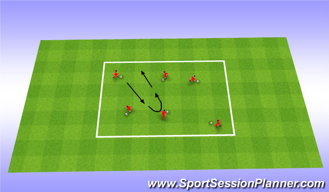 Football/Soccer Session Plan Drill (Colour): turn into space