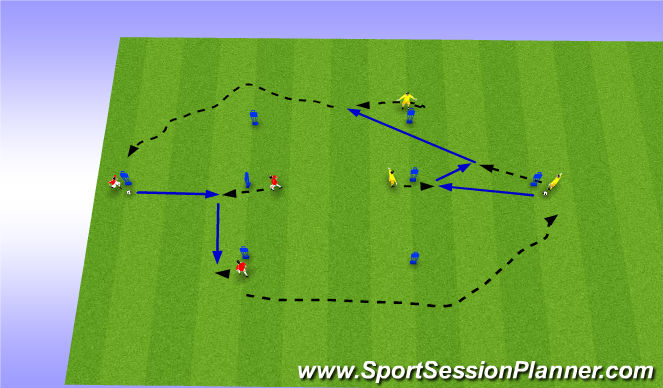 Football/Soccer Session Plan Drill (Colour): T Passin Patterns 1