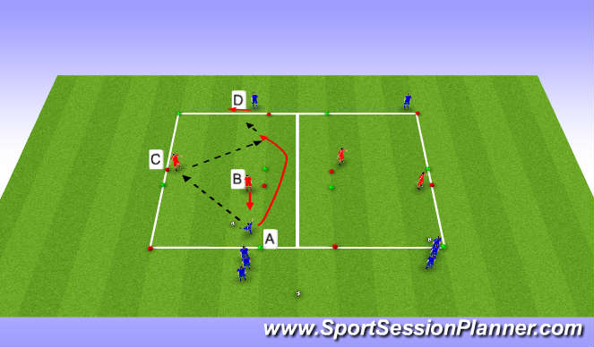 Football/Soccer Session Plan Drill (Colour): Veggspil
