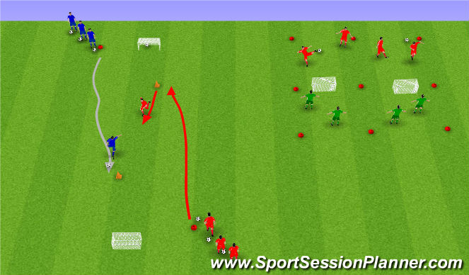 Football/Soccer Session Plan Drill (Colour): Skot og skallatennis.