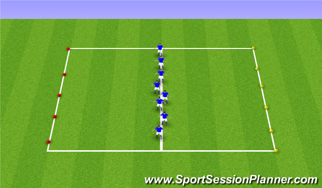 Football/Soccer Session Plan Drill (Colour): Reaction Warm Up