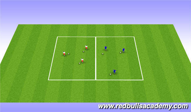 Football/Soccer Session Plan Drill (Colour): Footwork Warmup at beginning of session