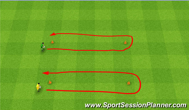 Football/Soccer Session Plan Drill (Colour): Egg race. Przenoszenie jajek.