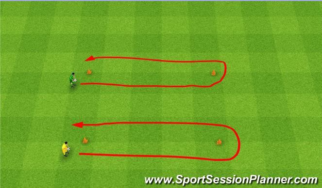 Football/Soccer Session Plan Drill (Colour): Egg race. Przenoszenie jajek.