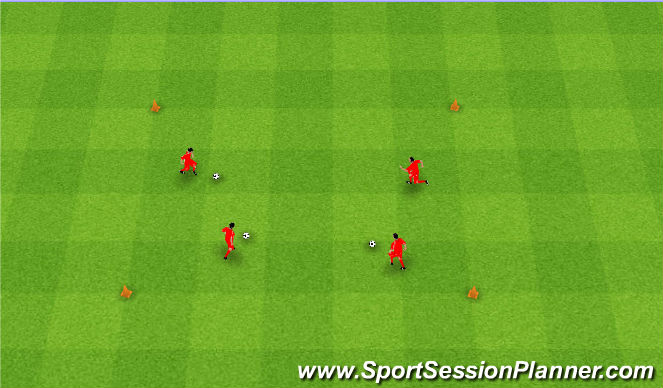 Football/Soccer Session Plan Drill (Colour): Musical balls. Muzyczne piłki.