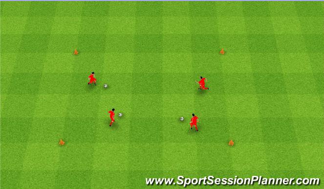 Football/Soccer Session Plan Drill (Colour): Musical balls. Muzyczne piłki.