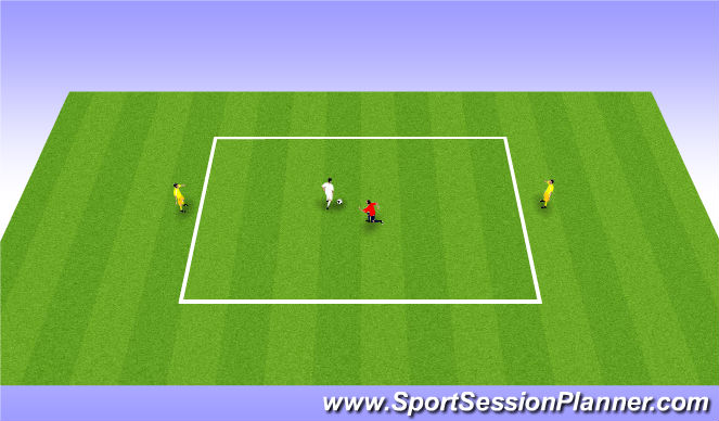 Football/Soccer Session Plan Drill (Colour): Tech/Tact 25mins