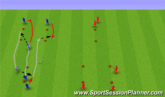 Football/Soccer Session Plan Drill (Colour): Passing Shuttles