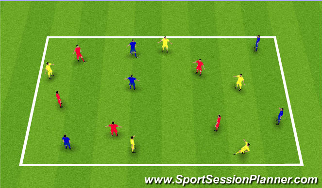 Football/Soccer Session Plan Drill (Colour): 3 colour passing