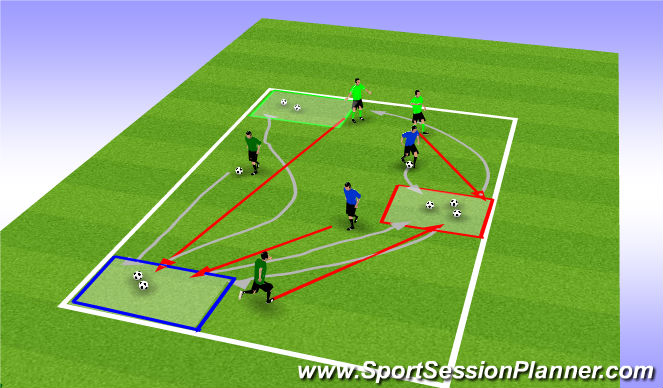 Football/Soccer Session Plan Drill (Colour): Meet The Trolls