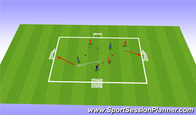 Football/Soccer Session Plan Drill (Colour): Dribbling England Football Day