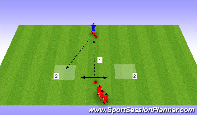Football/Soccer Session Plan Drill (Colour): receive in space