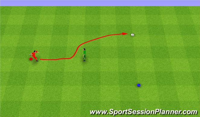 Football/Soccer Session Plan Drill (Colour): Quickness. Szybkość.