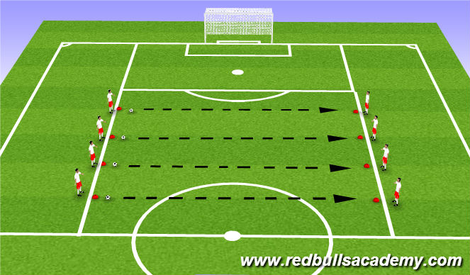 Football/Soccer Session Plan Drill (Colour): Warm Up - Unopposed