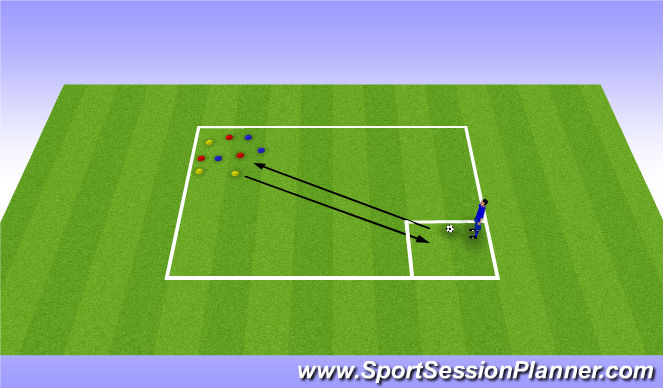 Football/Soccer Session Plan Drill (Colour): Buddy bear