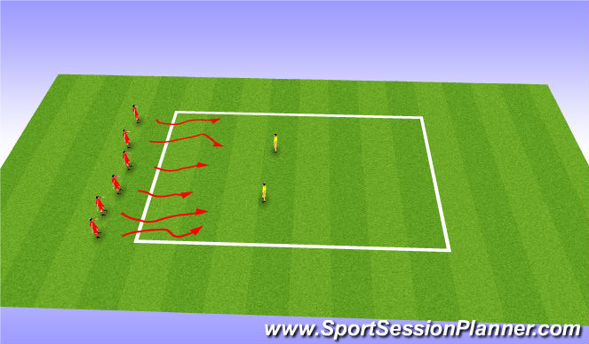 Football/Soccer Session Plan Drill (Colour): Bulldogs fun warm up