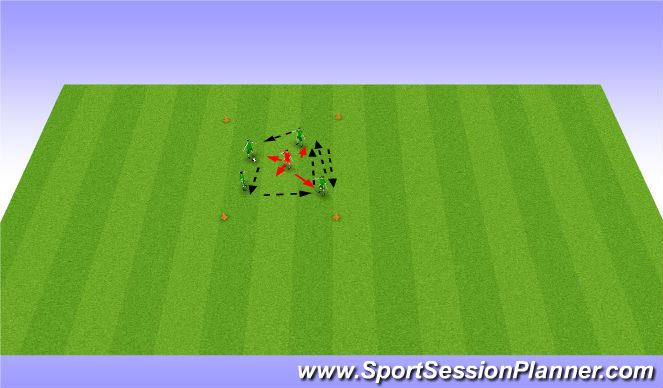 Football/Soccer Session Plan Drill (Colour): Byern Box