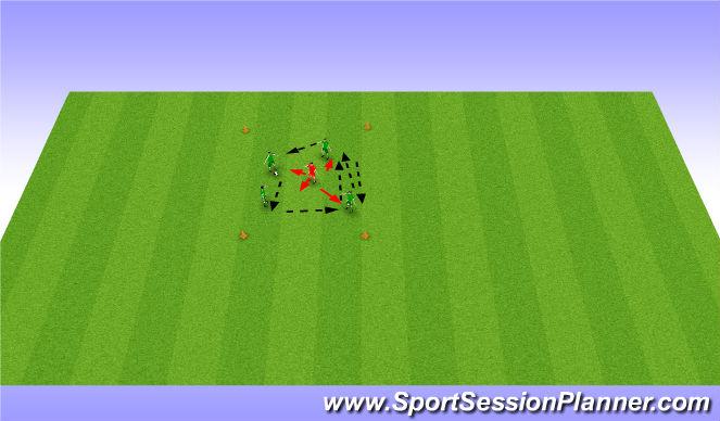 Football/Soccer Session Plan Drill (Colour): Byern Box