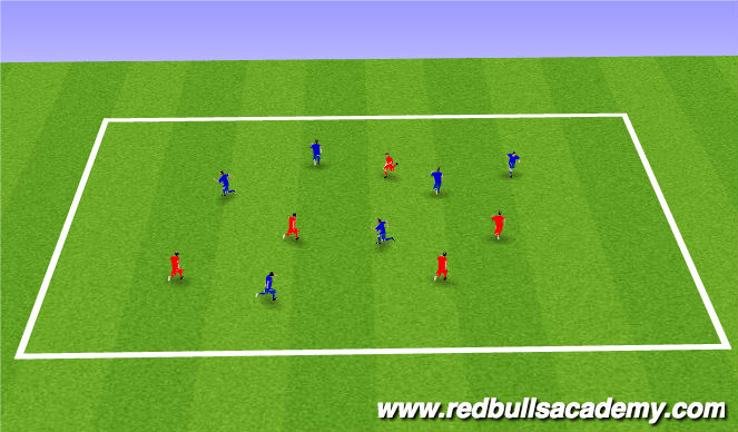 Football/Soccer Session Plan Drill (Colour): Tiger Tail
