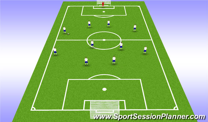 Football/Soccer Session Plan Drill (Colour): Ball Wide on Outside Back