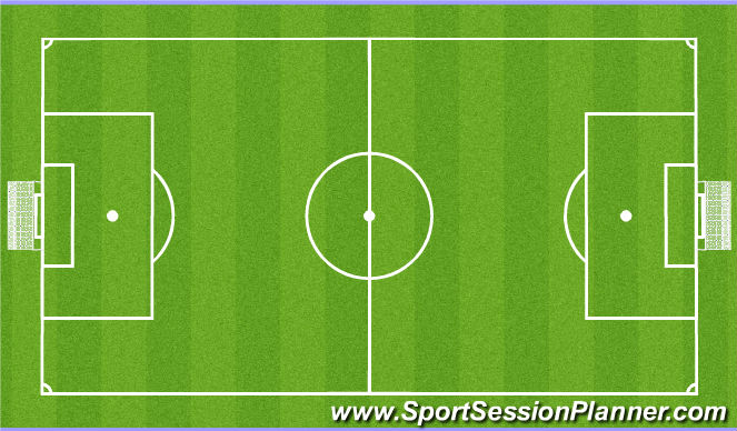 Football/Soccer Session Plan Drill (Colour): 7 v 7 SSG