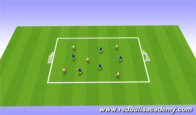 Football/Soccer Session Plan Drill (Colour): Possession Practice