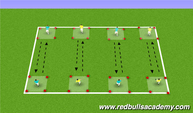 Football/Soccer Session Plan Drill (Colour): Passing: 1st touch