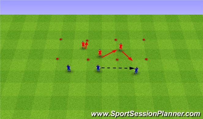 Football/Soccer Session Plan Drill (Colour): Tactics. Taktyka