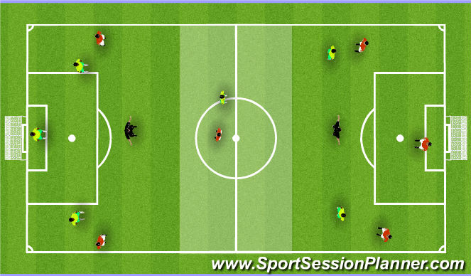 Football/Soccer Session Plan Drill (Colour): Skill Game