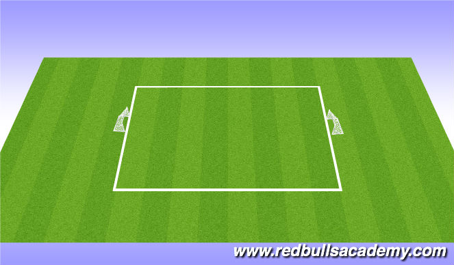 Football/Soccer Session Plan Drill (Colour): 4v4 6v6