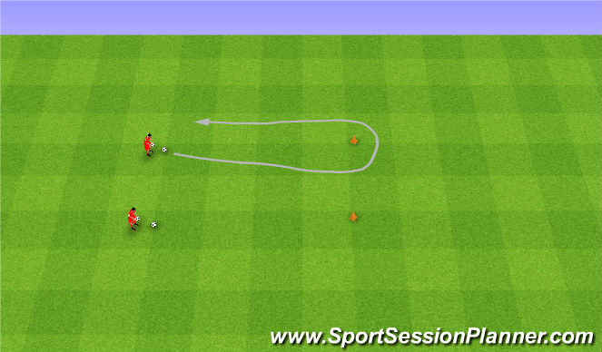 Football/Soccer Session Plan Drill (Colour): Egg race. Noszenie jajek.
