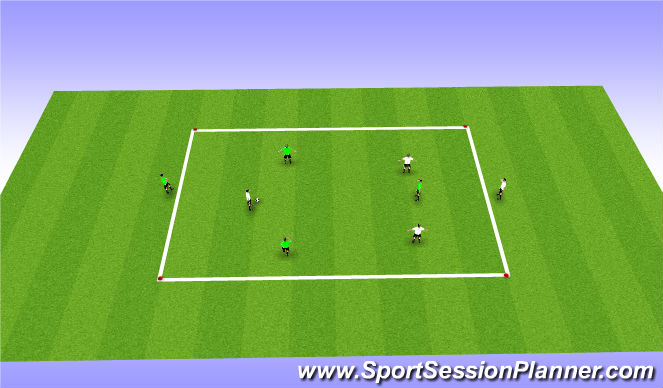 Football/Soccer Session Plan Drill (Colour): Screen swithching game