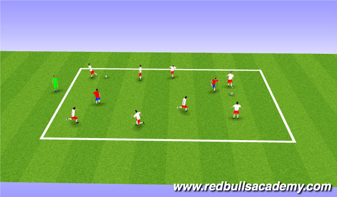 Football/Soccer Session Plan Drill (Colour): Possession Wars -_-