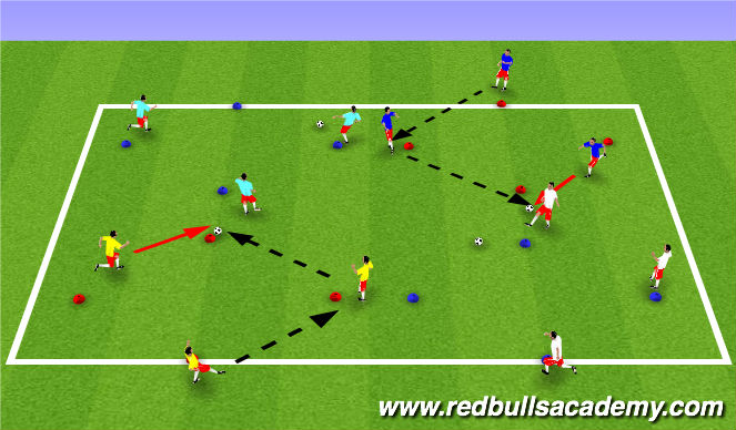 Football/Soccer Session Plan Drill (Colour): Diamonds are forever.