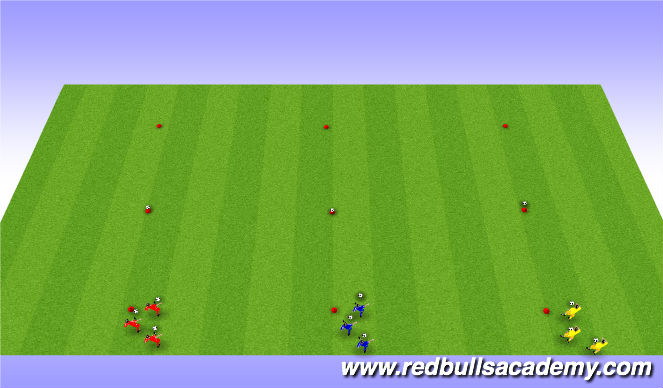 Football/Soccer Session Plan Drill (Colour): passing game
