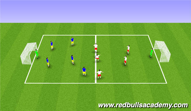 Football/Soccer Session Plan Drill (Colour): Srimmage/ Free Play ;)
