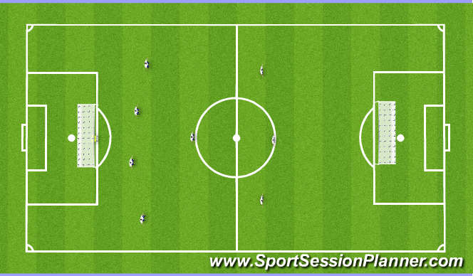Football/Soccer Session Plan Drill (Colour): Game 8v8