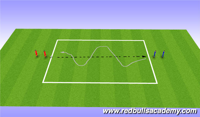 Football/Soccer Session Plan Drill (Colour): warmup defending
