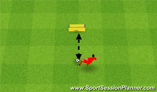 Football/Soccer Session Plan Drill (Colour): Volleys. Woleje.